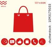 shopping bag symbol | Shutterstock .eps vector #1093175033
