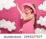 fashionable girl posing on a... | Shutterstock . vector #1093227527