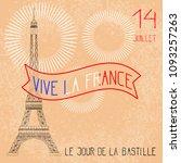 bastille day. july 14. concept... | Shutterstock .eps vector #1093257263