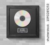cd disc award vector. musical... | Shutterstock .eps vector #1093285253