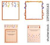 serpentine coil ribbon banner... | Shutterstock .eps vector #1093300163