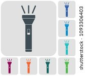 flashlight icon. portable torch ...   Shutterstock .eps vector #1093306403