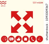 extend  resize icon. cross...   Shutterstock .eps vector #1093309367