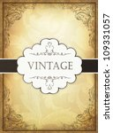 vintage background with... | Shutterstock .eps vector #109331057