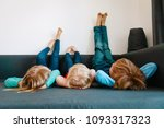 kids relax at home   home... | Shutterstock . vector #1093317323