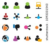 solid vector icon set   client...   Shutterstock .eps vector #1093331543