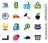solid vector icon set   scraper ... | Shutterstock .eps vector #1093336277