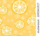 fruit pattern with lemon and... | Shutterstock .eps vector #1093341917