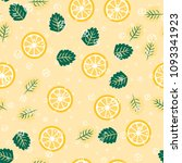 berry seamless pattern with... | Shutterstock .eps vector #1093341923