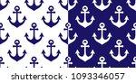 anchor vector seamless pattern  ...   Shutterstock .eps vector #1093346057