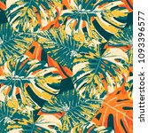 tropical pattern. seamless...   Shutterstock .eps vector #1093396577