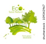 illustration environmentally... | Shutterstock . vector #109342967