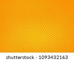 orange comic pop art halftone...   Shutterstock .eps vector #1093432163