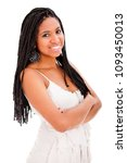 beautiful african descent with...   Shutterstock . vector #1093450013