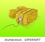 straw bales illustration  ... | Shutterstock .eps vector #109345697