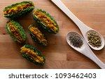 stuffed bitter melon bitter... | Shutterstock . vector #1093462403