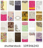 collection of colorful floral... | Shutterstock . vector #109346243