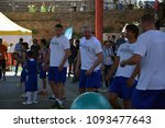 Small photo of BELGRADE, SERBIA - MAY 18, 2018: Basketball Players at the Exhibition Game
