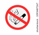no smoking cigarette sign icon. ... | Shutterstock .eps vector #1093487267