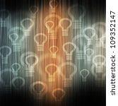 bulb light on color wave... | Shutterstock . vector #109352147