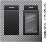 realistic black cardboard box... | Shutterstock .eps vector #1093528823