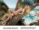 beautiful  sexy blonde woman in ... | Shutterstock . vector #1093529267