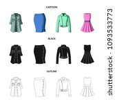 women clothing cartoon black...   Shutterstock .eps vector #1093533773