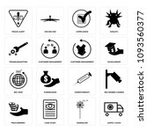 set of 16 simple editable icons ...   Shutterstock .eps vector #1093560377