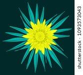 creative flower stylization....   Shutterstock .eps vector #1093573043