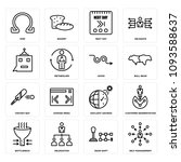 set of 16 simple editable icons ...   Shutterstock .eps vector #1093588637