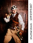 Small photo of Steampunk mad scientist