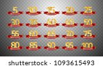 set of anniversary isolated... | Shutterstock .eps vector #1093615493