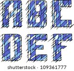 set of initial letters abcdef....