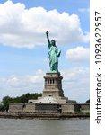 statue of liberty in new york... | Shutterstock . vector #1093622957
