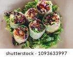 fresh vegetarian spring rolls... | Shutterstock . vector #1093633997