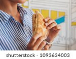 cheese sandwich served for lunch | Shutterstock . vector #1093634003