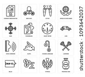 set of 16 simple editable icons ... | Shutterstock .eps vector #1093642037