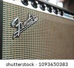 jun 9 2016  vintage fender... | Shutterstock . vector #1093650383