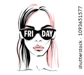 fashion illustration. vector...   Shutterstock .eps vector #1093651577