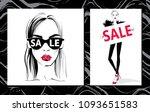 fashion illustration. vector... | Shutterstock .eps vector #1093651583