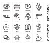 set of 16 simple editable icons ... | Shutterstock .eps vector #1093653503