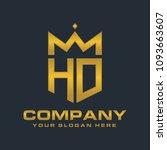 letter hd royal crown  luxury... | Shutterstock .eps vector #1093663607