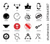 set of 16 simple editable icons ... | Shutterstock .eps vector #1093664387