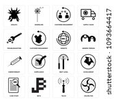 set of 16 simple editable icons ...   Shutterstock .eps vector #1093664417