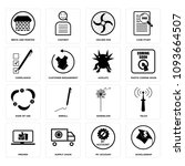 set of 16 simple editable icons ...   Shutterstock .eps vector #1093664507