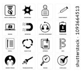 set of 16 simple editable icons ... | Shutterstock .eps vector #1093664513
