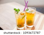 refreshing summer drink with...   Shutterstock . vector #1093672787