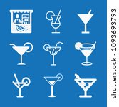 filled set of 9 drinks icons... | Shutterstock .eps vector #1093693793