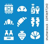 set of 9 food filled icons such ... | Shutterstock .eps vector #1093697243