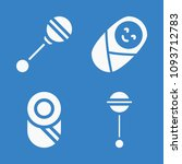 set of 4 baby filled icons such ... | Shutterstock .eps vector #1093712783